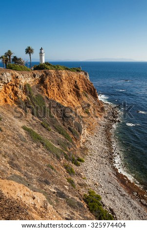 Beautiful view on point vicente in rancho palos verdes, Los Angeles, California. - stock photo