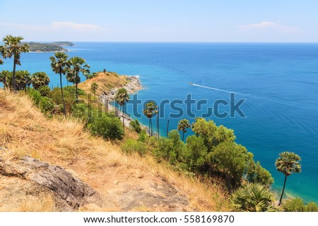 Beautiful view point of Promthep cape at Phuket, Thailand