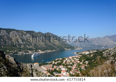 Beautiful view to Kotor bay, Montenegro