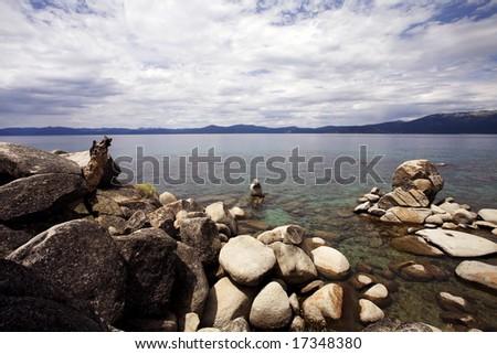 Beautiful Views of Lake Tahoe - stock photo