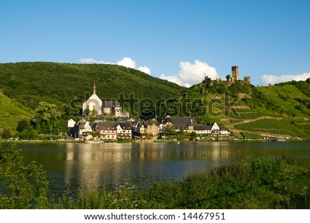 Beautiful village of beilstein germany along the mosel river in germany - stock photo