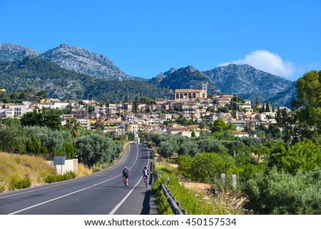 Beautiful village of Selva on the island of Majorca in Spain