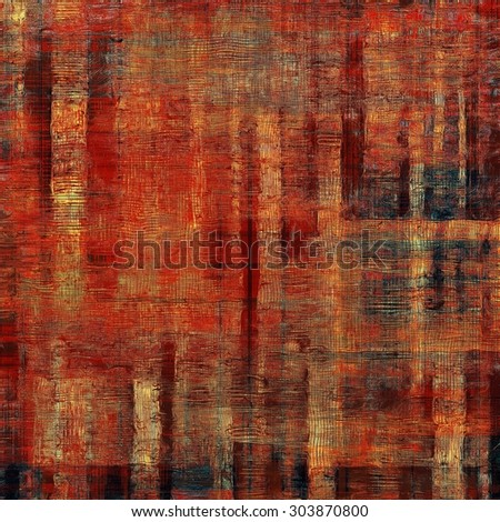 Beautiful vintage background. With different color patterns: yellow (beige); brown; blue; red (orange) - stock photo