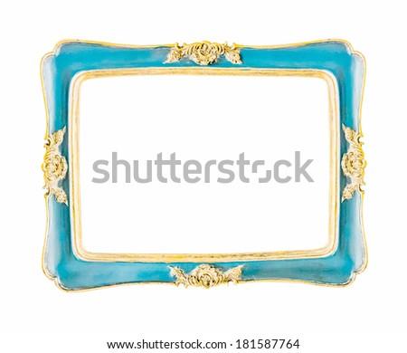 beautiful vintage frame on white background - stock photo