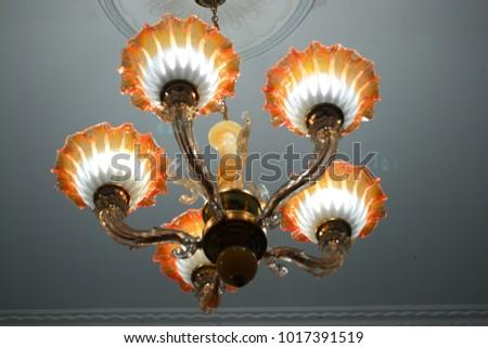 stock-photo-beautiful-vintage-lamp-hangi