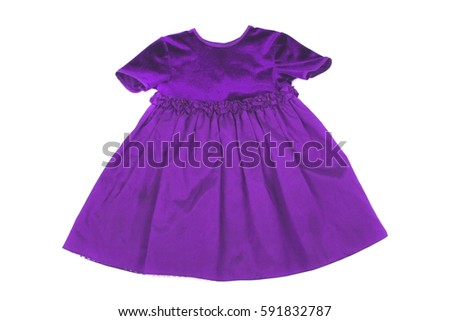 beautiful violet dress on the white background
