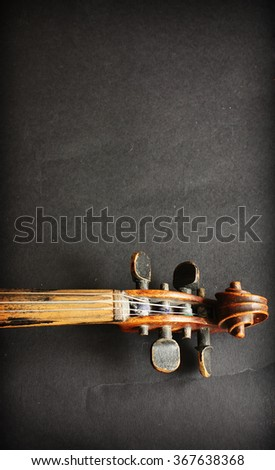 Beautiful violin - stock photo