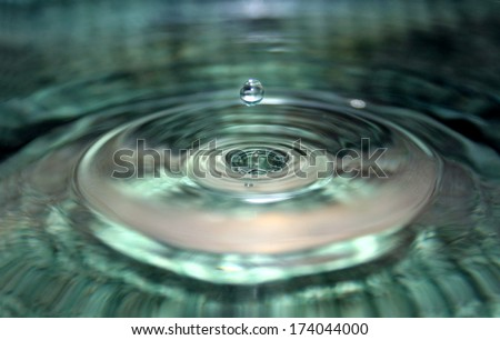 beautiful water drop  - stock photo