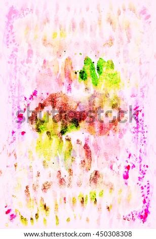 Beautiful watercolor background - stock photo