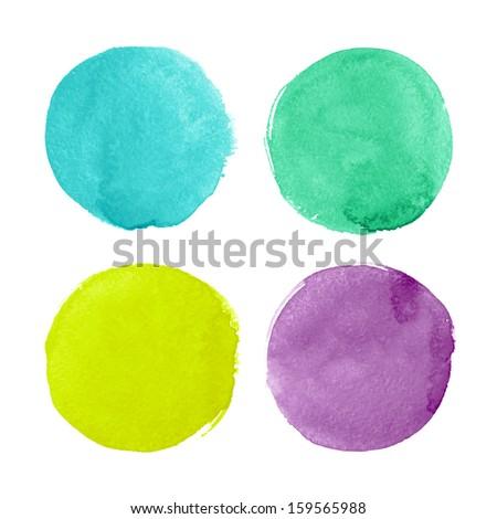 Beautiful watercolor design elements - stock photo