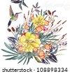 beautiful  watercolor flower - stock vector