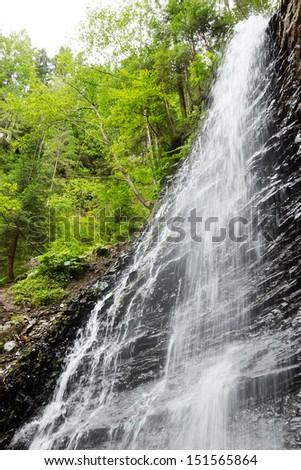 Beautiful Waterfall. Beauty nature background - stock photo