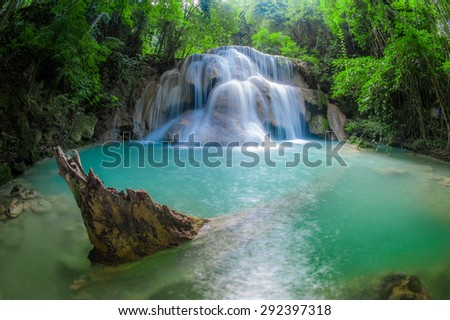 beautiful waterfall in morning