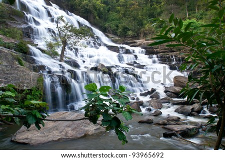 Beautiful waterfall in THailand. - stock photo