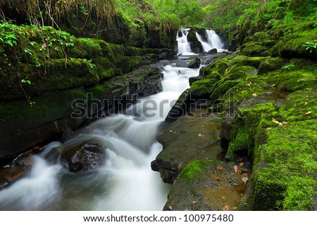 Beautiful waterfall of Clare Glens, Ireland - stock photo