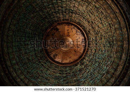 beautiful weave texture lamp asian style background  - stock photo