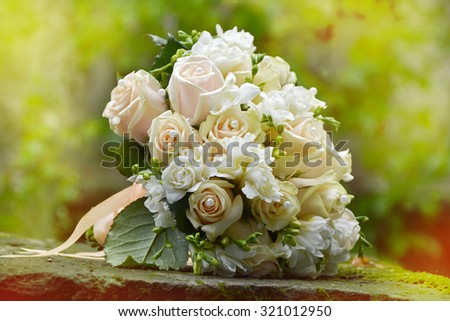 Beautiful wedding bouquet close-up