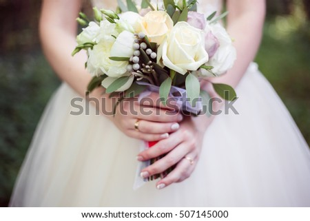 Beautiful wedding bouquet color luxury romantic background