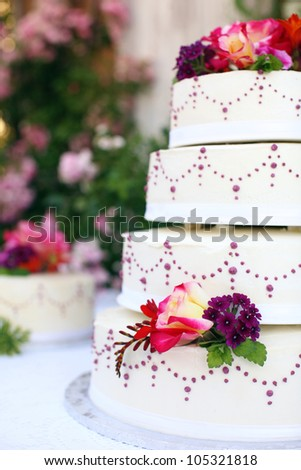 Beautiful Wedding Cake - stock photo