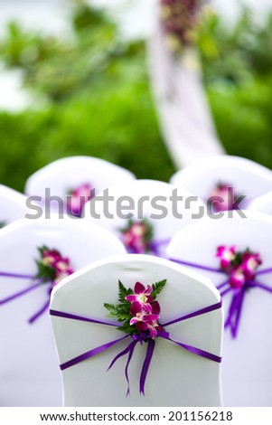 Beautiful wedding ceremony area. - stock photo