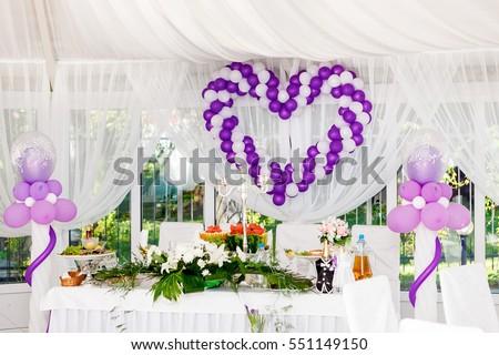 Украшение зала на свадьбу шарами цены