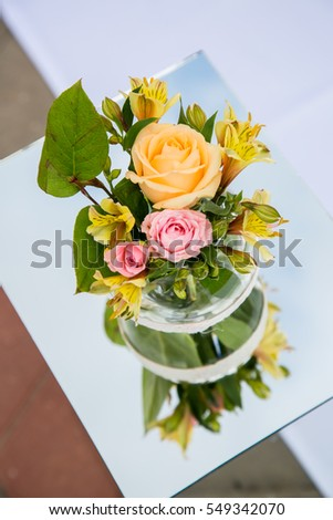 Beautiful wedding decorations of flowers