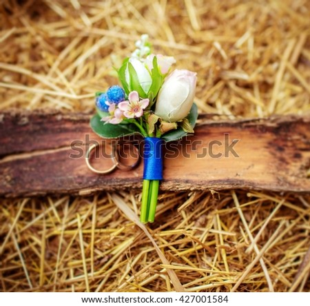 Beautiful wedding details from ceremony and reception - stock photo