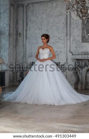 Beautiful Wedding Dress Bride Wedding Dress Stock Photo & Image ...