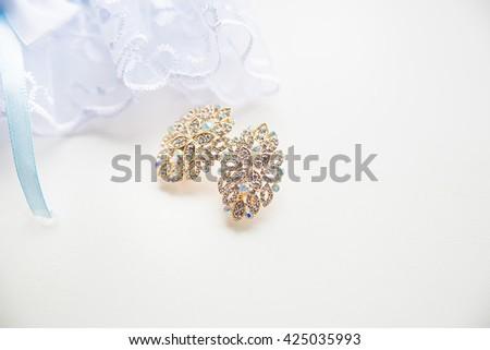 Gold Earrings Stock Royalty Free & Vectors