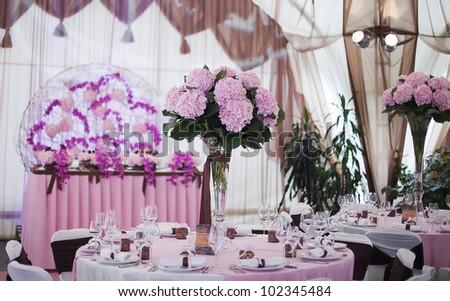 beautiful wedding hall, - stock photo