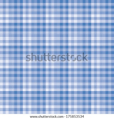 Beautiful white and blue gingham fabric pattern background. - stock photo