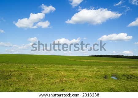 beautiful white clouds on background blue sky.
