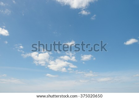 beautiful white clouds on sky - stock photo