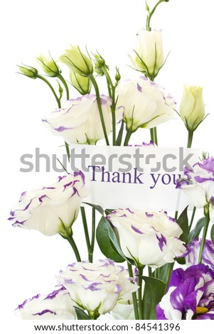 beautiful white flowers on a white background - stock photo
