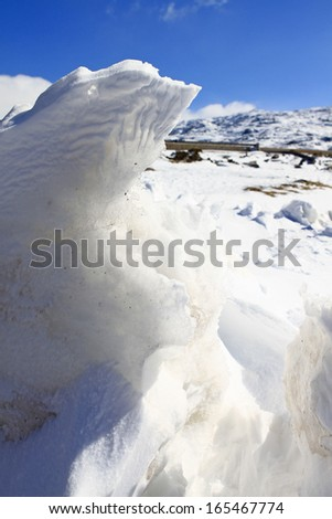 beautiful white snow - stock photo