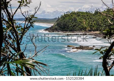 Beautiful wild coastline at Itacare, Bahia, Brazil - stock photo