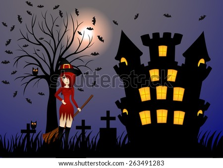 Beautiful Witch and Castle