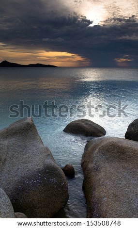 Beautiful with sunset over the sea