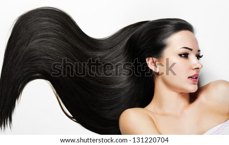 Beautiful Woman. Beauty Model Woman. Hairstyle. Woman Spa - stock photo