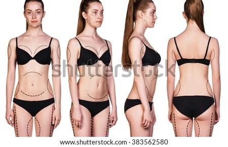 Beautiful woman body - stock photo
