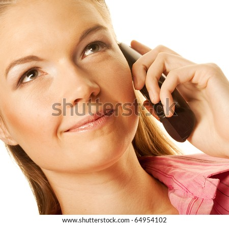Beautiful woman calling by phone