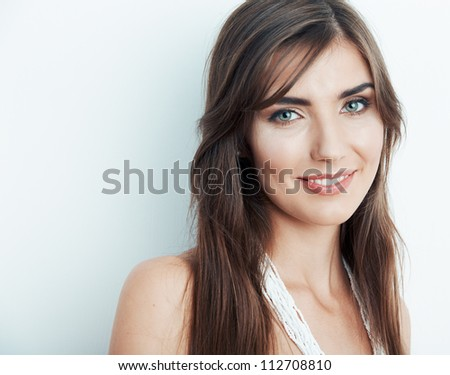 Beautiful woman. Close up face.