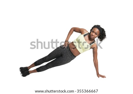 Beautiful woman doing a set of Yoga exercises