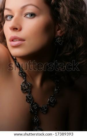 Beautiful woman. Fashion art photo.  Jewelry and Beauty - stock photo