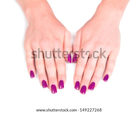 Beautiful woman Hands. Manicure concep