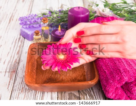 Beautiful woman Hands.Manicure concept
