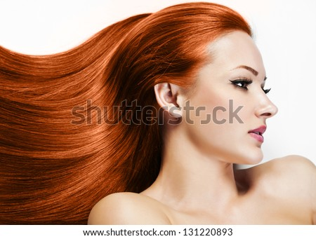 Beautiful Woman. Healthy Long Hair. Beauty Model Woman. Hairstyle. Woman Spa