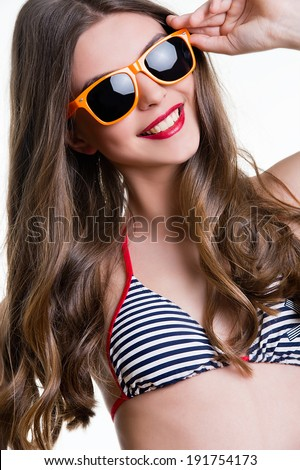 Beautiful woman in a sunglasses