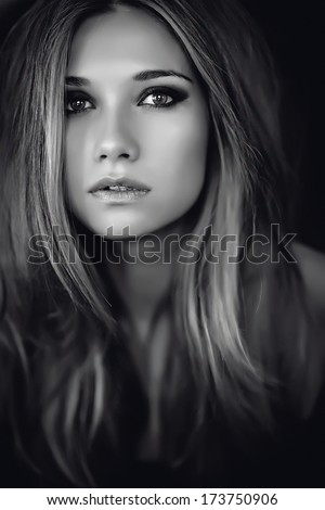 Black And White Portrait Woman
