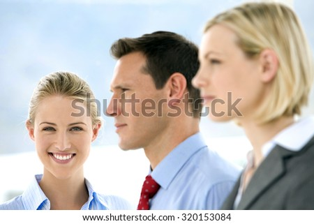 Beautiful woman member of a business team.  - stock photo